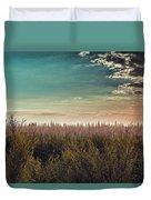 Sea Of Golden Tassels Duvet Cover