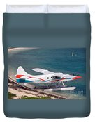 Sea Plane At Dry Tortugas National Park Duvet Cover