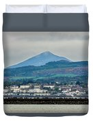 Sea Point And Sugar Loaf Mountain Duvet Cover