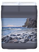 Sea Pounded Stones At Crackington Haven Duvet Cover