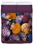 Sea Shells And Sea Glass Duvet Cover
