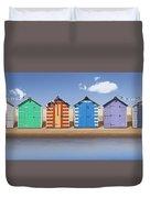 Seaside Beach Huts Duvet Cover