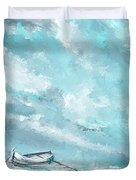 Sea Spirit - Teal And Gray Art Duvet Cover