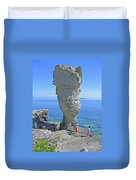 Sea Stack Perspective Duvet Cover