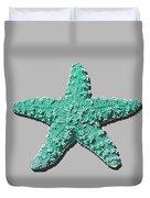 Sea Star Aqua .png Duvet Cover