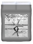 Sea Star Bw Duvet Cover