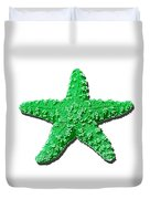 Sea Star Green .png Duvet Cover