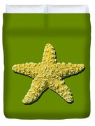 Sea Star Yellow .png Duvet Cover