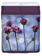 Sea Thrift Blossoms Duvet Cover