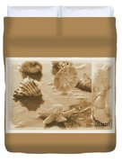 Sea Treasure -sepia Duvet Cover