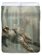 Sea Turtle Great Wave Duvet Cover