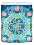 Sea Turtle Mandala  Duvet Cover