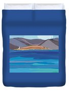 Sea View And Chapel Duvet Cover