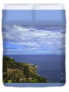 Sea View From Taormina Duvet Cover