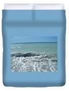 Sea Waves In Italy Duvet Cover