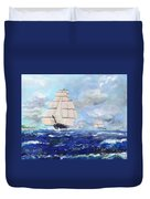 Sea Witch Leaving Port Duvet Cover