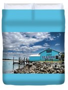Seafood On The River  Duvet Cover