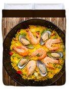Seafood Paella  Duvet Cover