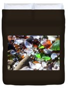 Seaglass Background Duvet Cover