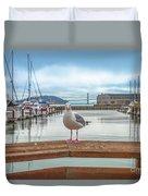 Seagull At Pier 39 Duvet Cover