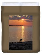 Seagull At Sunset Duvet Cover
