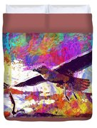 Seagull Birds Flight Wings Freedom  Duvet Cover