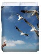Seagull Flying Duvet Cover by Pradeep Raja PRINTS