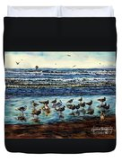 Seagull Get-together Duvet Cover