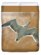 Seagull In Flight 1 Duvet Cover