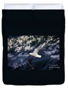 Seagull In Wake Duvet Cover