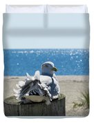 Seagull In Wind Duvet Cover