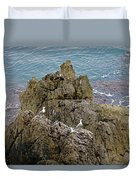 Seagull Island On Cefalu In Sicily  Duvet Cover