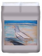 Seagull  On Seashore Duvet Cover