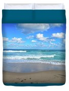 Seagull On The Atlantic Shore Duvet Cover