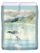 Seagull On The Beach Duvet Cover