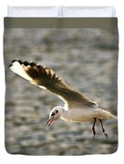 Seagull Over Water Duvet Cover
