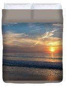 Seagull Sunrise Along The Jersey Shore Duvet Cover