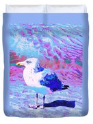 Cool And Colorful Gull Duvet Cover