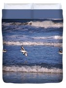 Seagulls Above The Seashore Duvet Cover