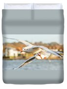 Seagulls In The Air Duvet Cover