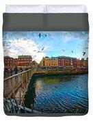 Seagulls Over Liffey Duvet Cover