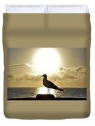 Seagull's Sunrise Silhouette Duvet Cover