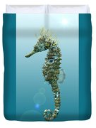 Seahorse 3d Render Duvet Cover