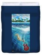 Seahorse Blues Duvet Cover