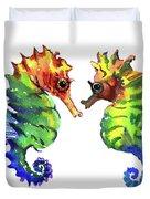 Seahorse Love Duvet Cover