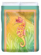 Seahorse Pink Duvet Cover