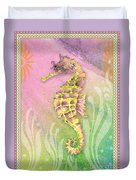 Seahorse Violet Duvet Cover