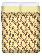 Seahorse Watercolor Art Duvet Cover