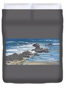 Seal Rock Seascape Duvet Cover
