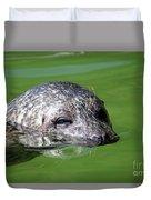 Seal Swimming Portrait Wildlife Scene Duvet Cover